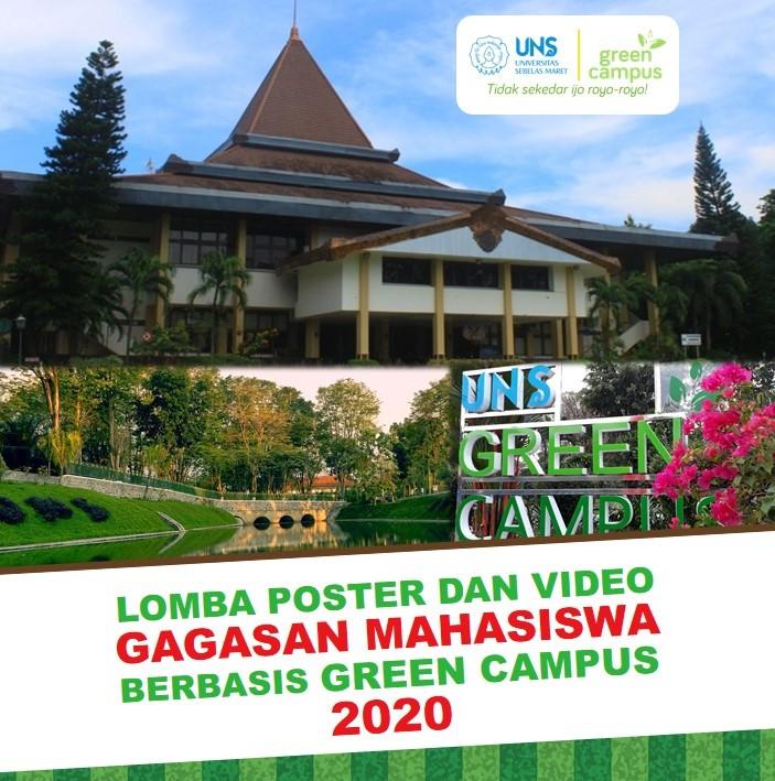 LOMBA POSTER DAN VIDEO GAGASAN MAHASISWA BERBASIS GREEN CAMPUS 2020